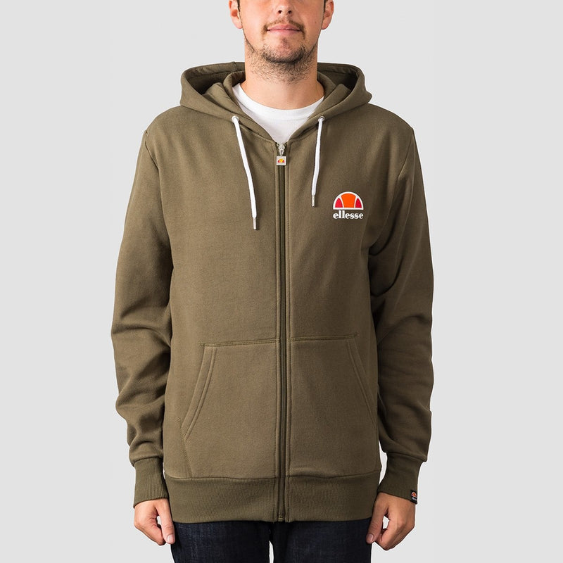 ellesse Miletto Zip Hood Khaki - Clothing