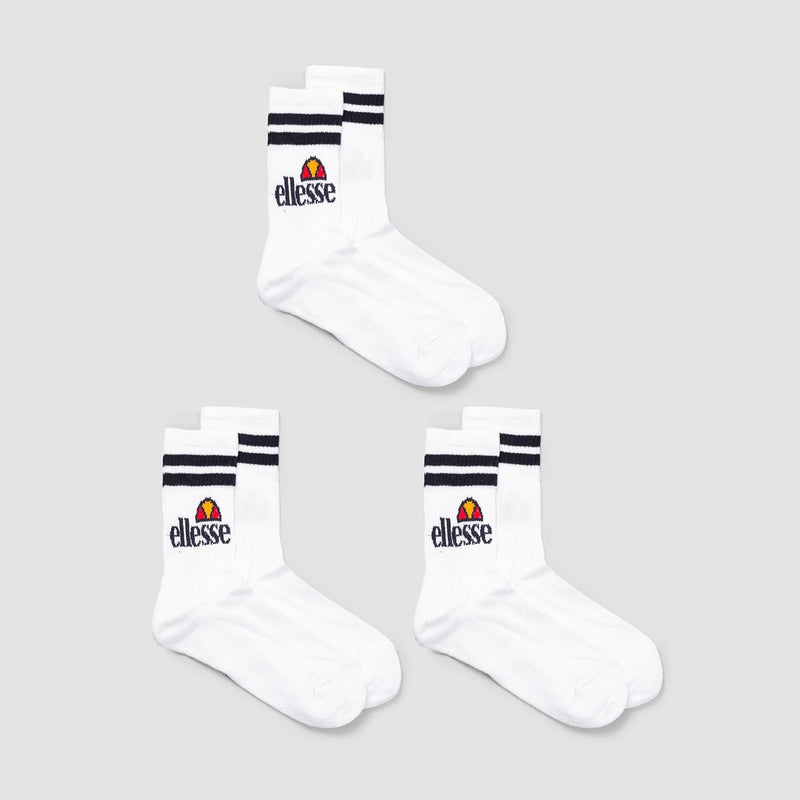 ellesse Pullo Socks 3 Pack White - Unisex - Accessories