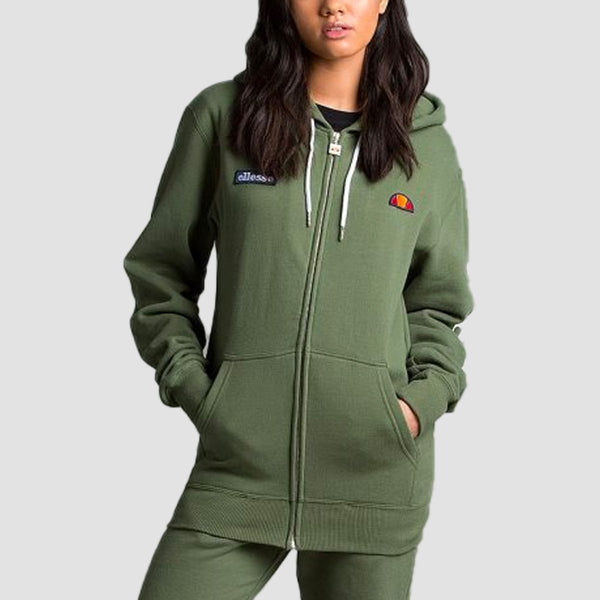 ellesse Serinatas Zip Hood Khaki - Womens - Clothing