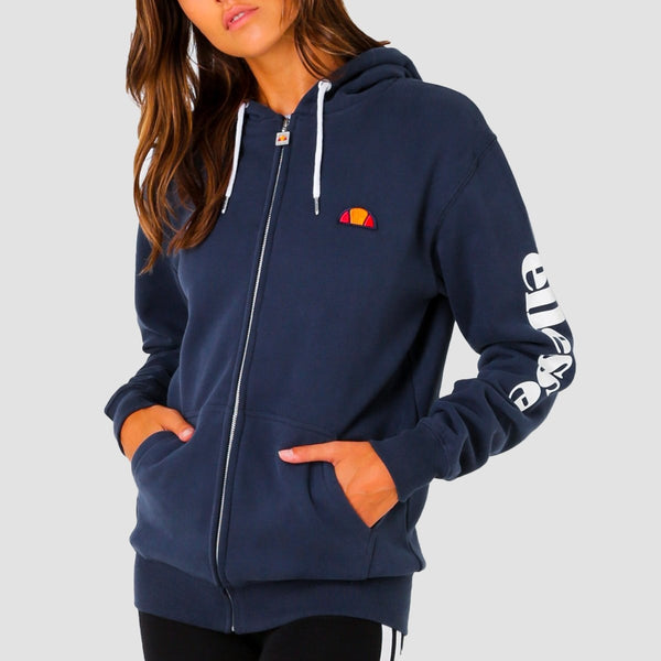 ellesse Serinatas Zip Hood Navy - Womens - Clothing
