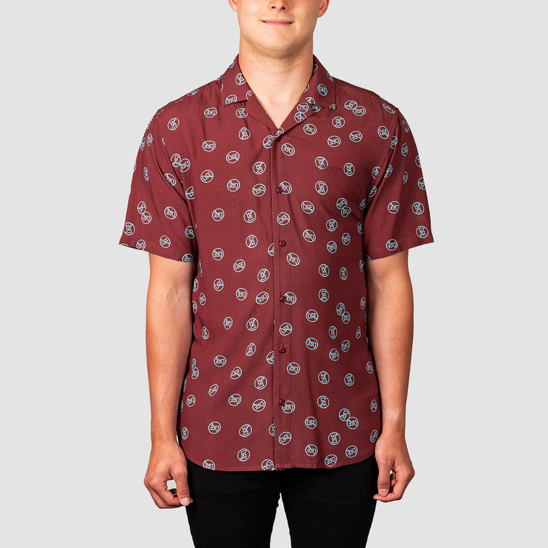 Emerica Novella Short Sleeve Woven Shirt Oxblood