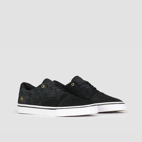 Emerica Provider Black/White/Gold - Footwear