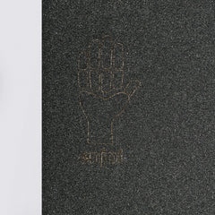 Enjoi Hand Sign Die Cut Griptape Black - 9 - Skateboard