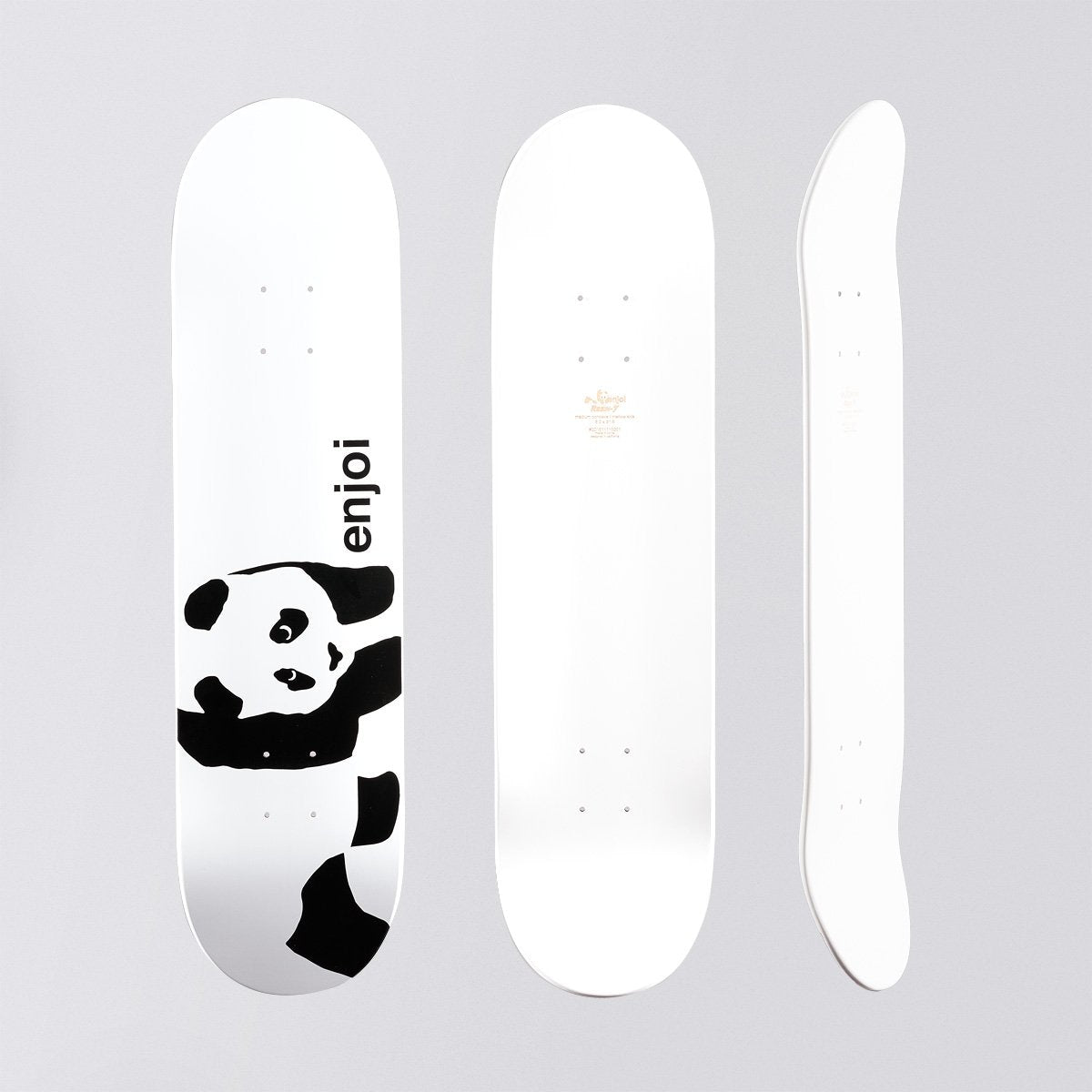 Enjoi Whitey Panda Logo Wide R7 Deck - 8 - Skateboard