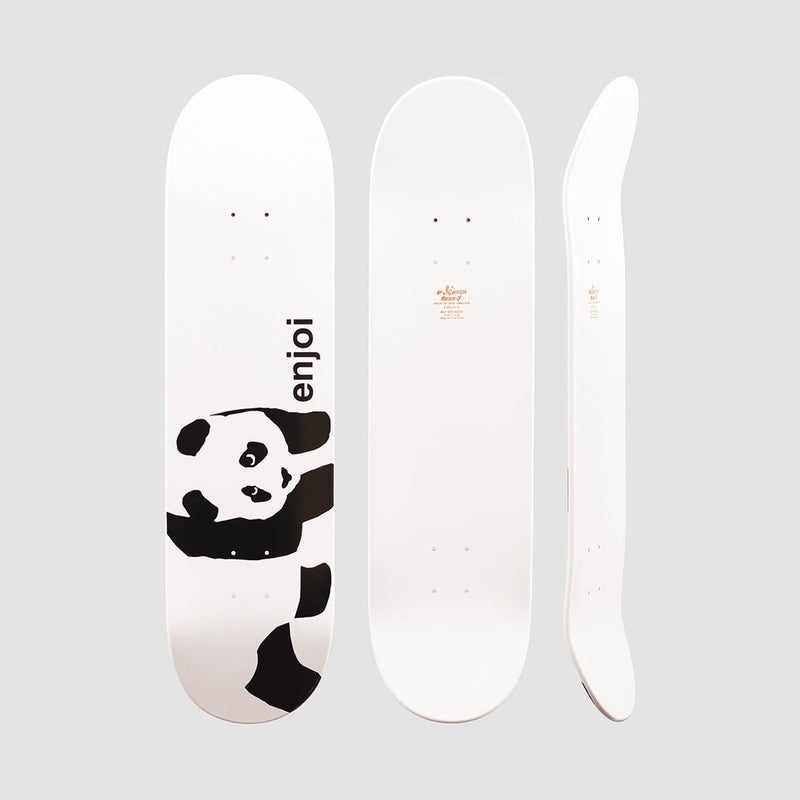 Enjoi Whitey Panda Logo Wide R7 Deck White - 8.5 - Skateboard