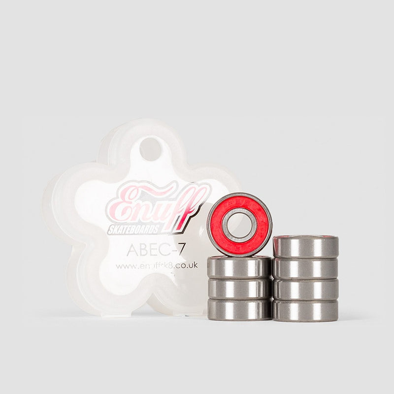 Enuff Abec-7 Bearings Red - Skateboard