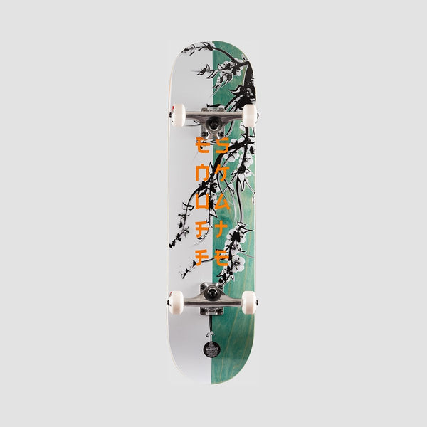 Enuff Cherry Blossom Pre-Built Complete White/Teal - 8 - Skateboard