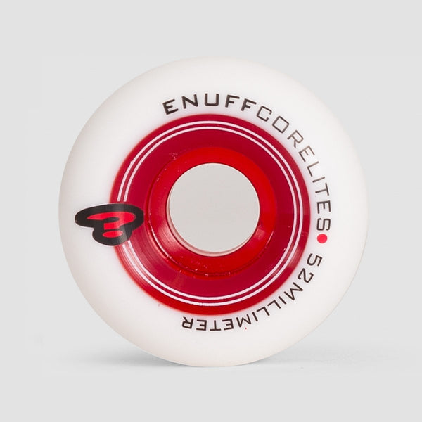 Enuff Corelites Wheels White/Red 52mm - Skateboard