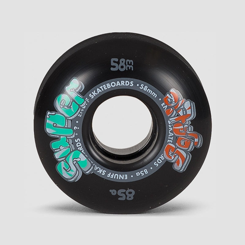 Enuff Super Softie Wheels Black 58mm - Skateboard