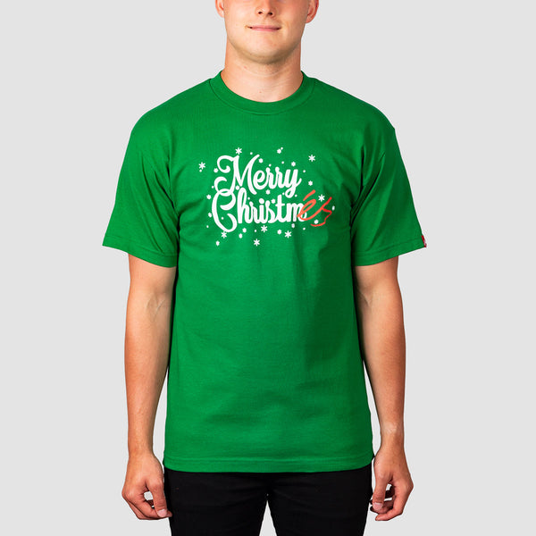 eS Holiday Tee Kelly Green
