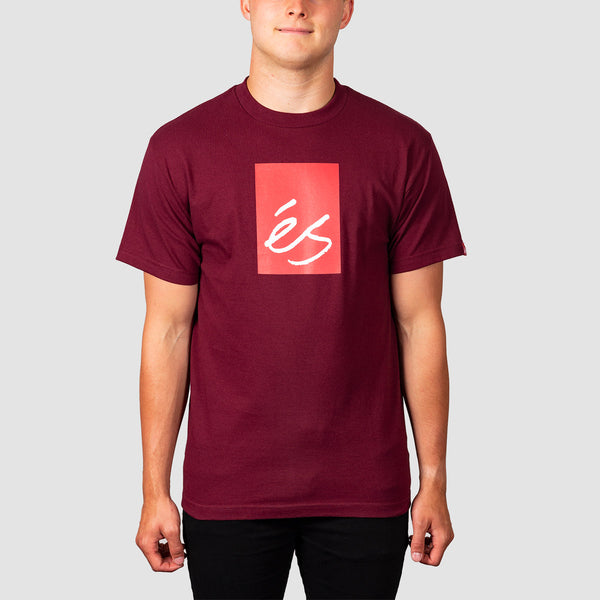 eS Main Block Tee Burgundy