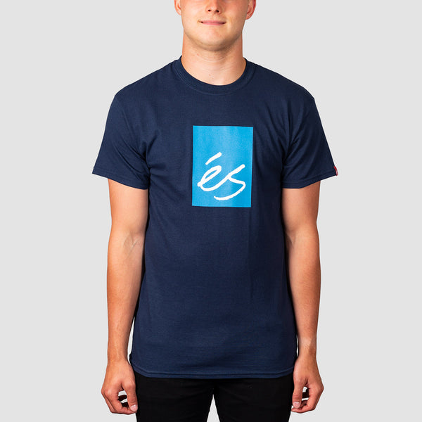 eS Main Block Tee Navy