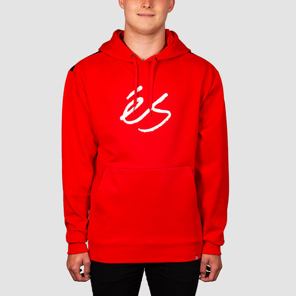 eS Script Tech Pullover Hood Red
