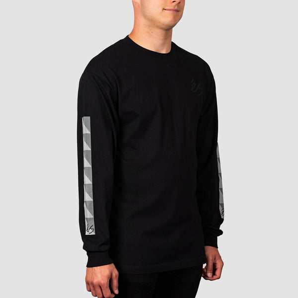 eS Split Block Longsleeve Tee Black
