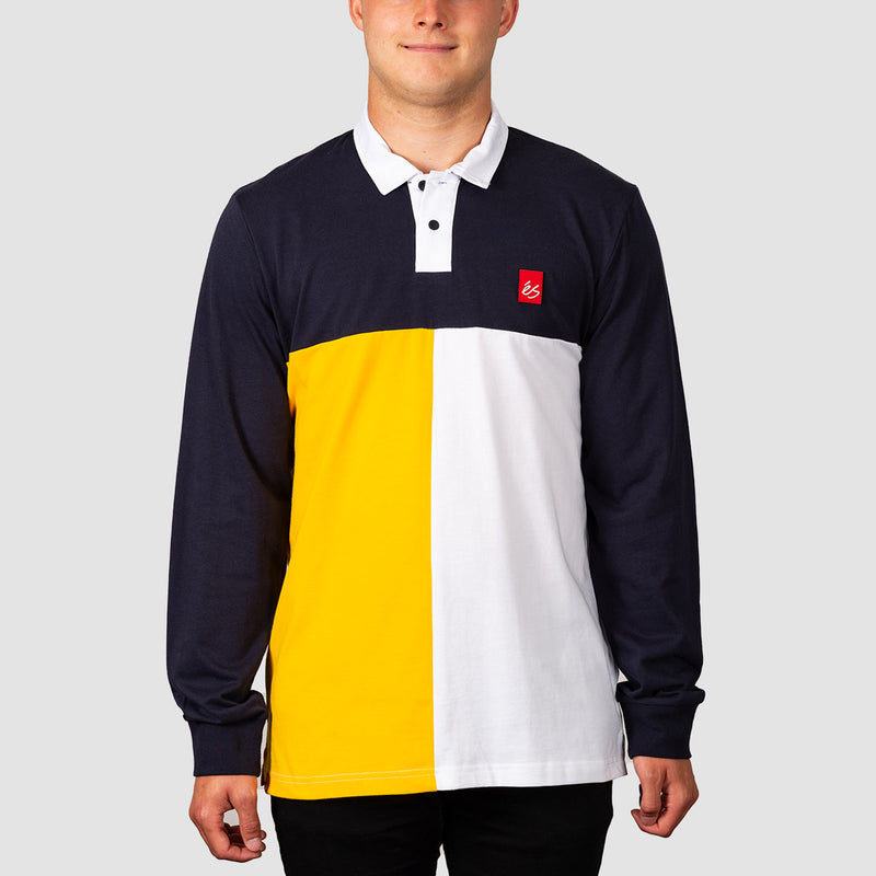 eS Split Longsleeve Polo Shirt Navy
