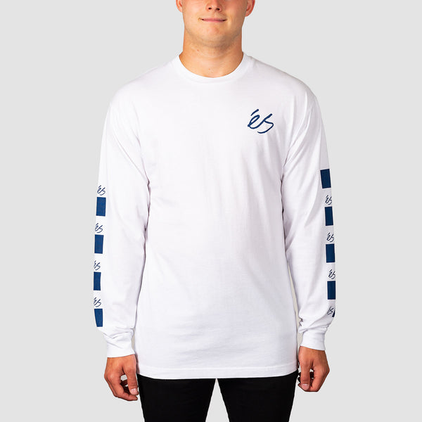 eS Spot Check Longsleeve Tee White