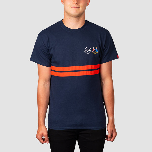 eS X Muckmouth Stripe Tee Navy
