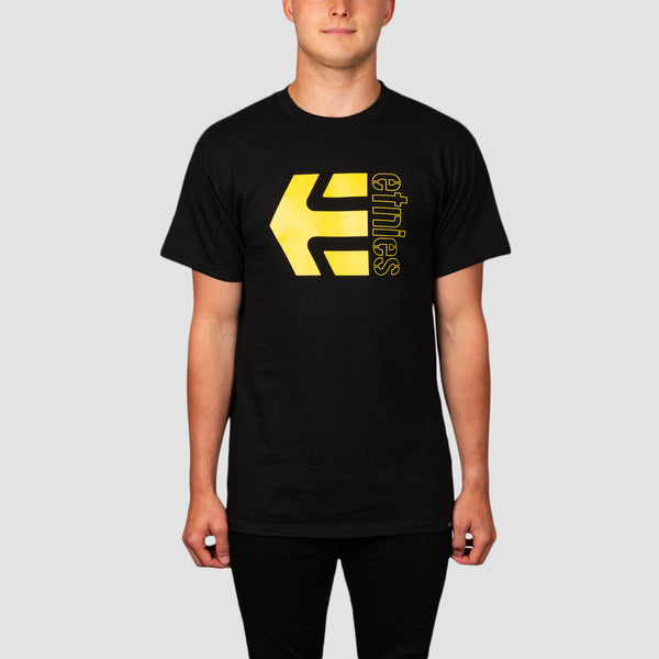 Etnies Corp Combo Tee Black/Yellow