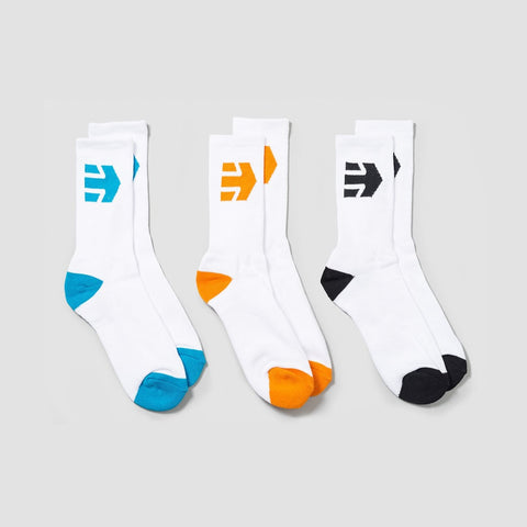 Etnies Direct Socks 3 Pack White
