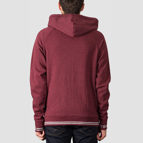 Etnies Johnson Zip Hood Burgundy - Clothing