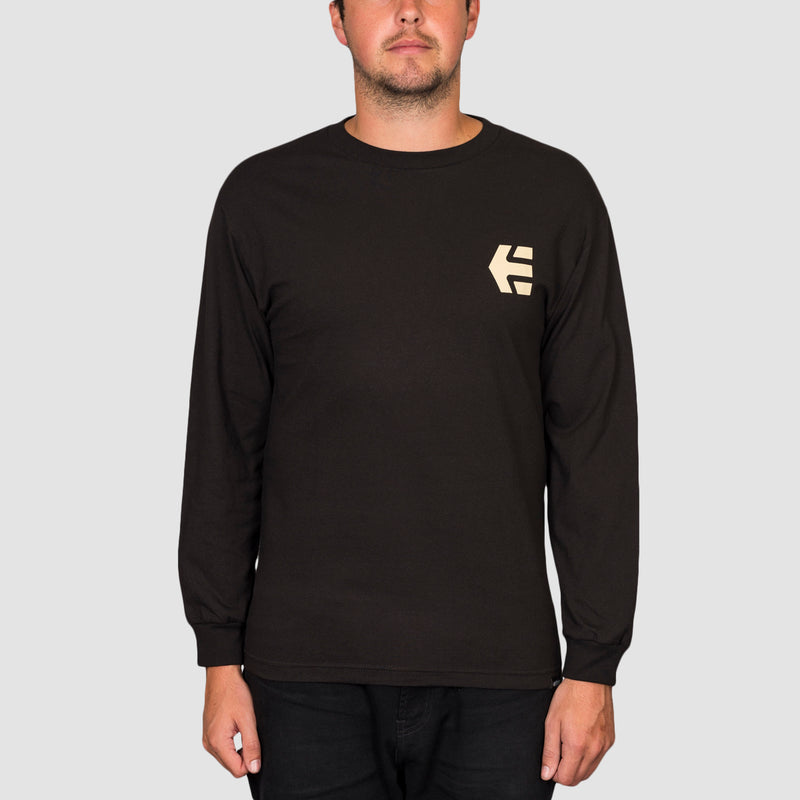 Etnies Label Gradient Longsleeve Tee Black
