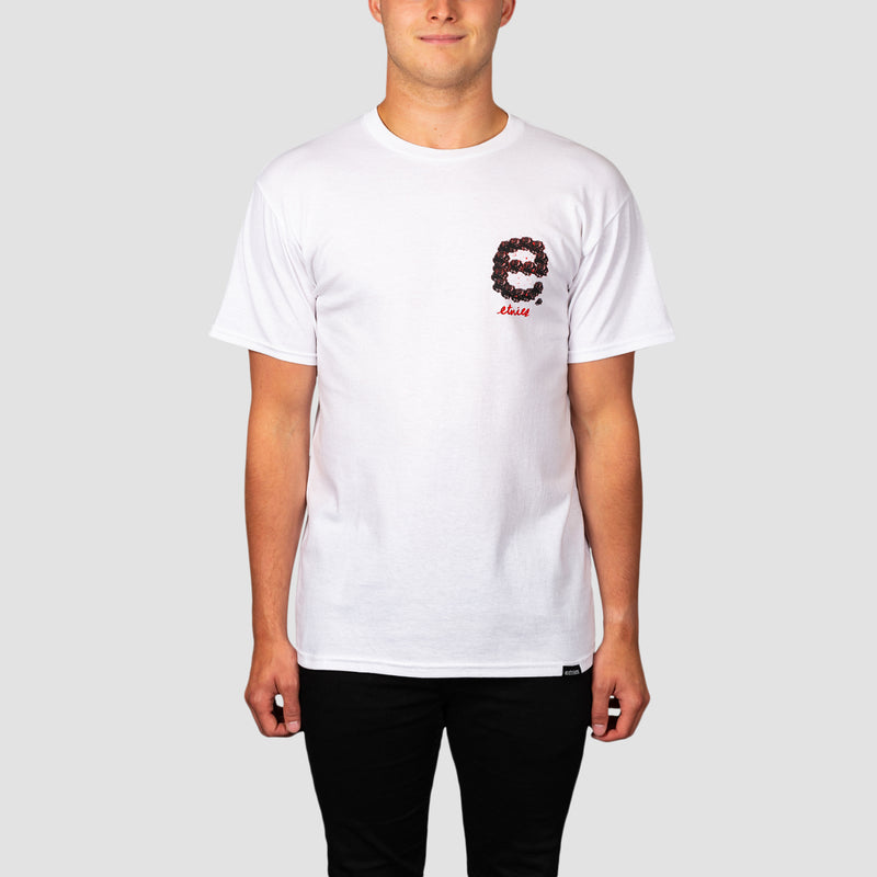Etnies With Roses Tee White