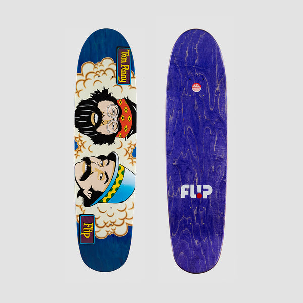 Flip Penny Toms Friends Stained Deck Blue - 7.94""