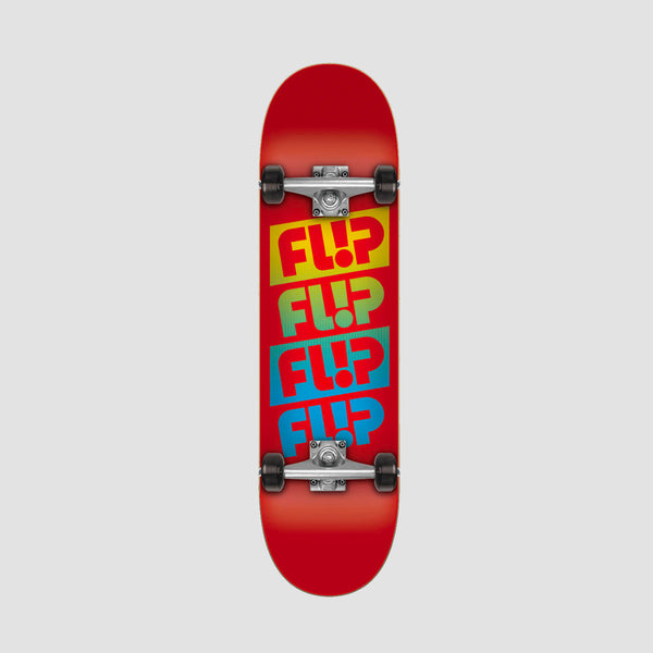 Flip Team Quattro Pre-Built Complete Red - 7.88""