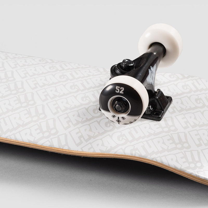 Fracture All Over Comic Pre-Built Complete White - 8 - Skateboard