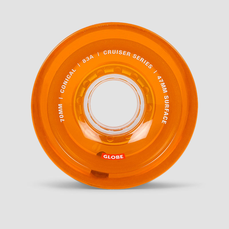 Globe Conical Cruiser Wheels Clear Amber 70mm