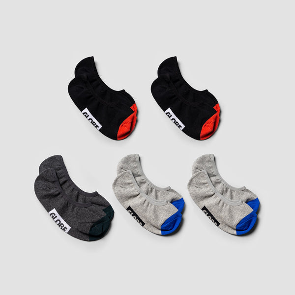 Globe Ellis Invisible Socks 5 Pack Assorted