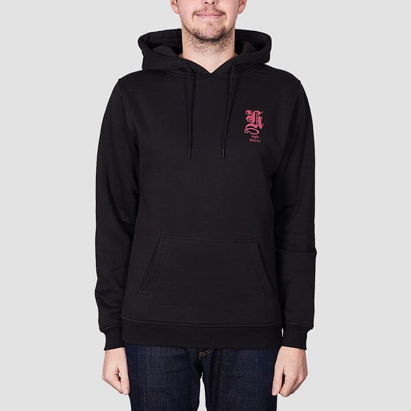 Heathen Blackletter Pullover Hood Black - Clothing