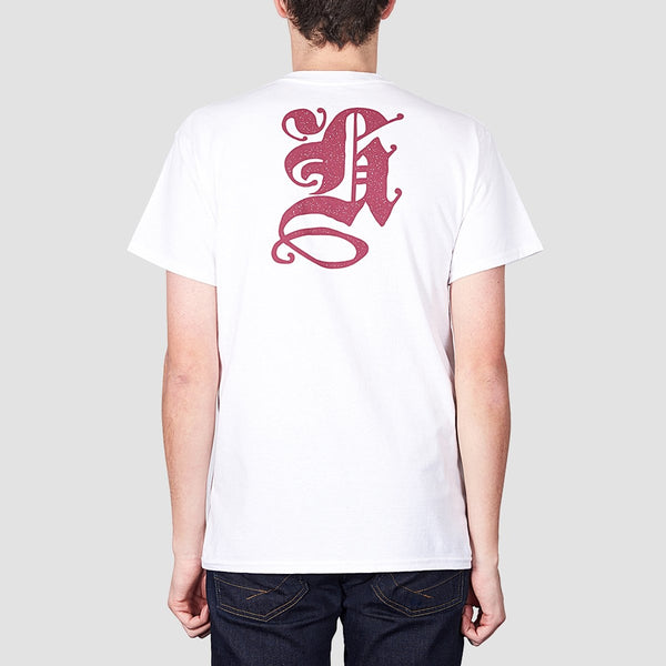 Heathen Blackletter Tee White - Clothing