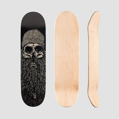 Heathen Destiny Deck Black - 8.5 - Skateboard