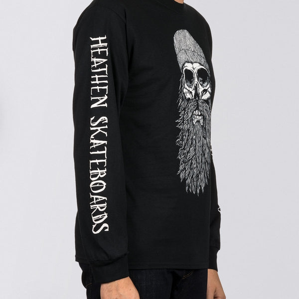 Heathen Destiny Long Sleeve Tee Black/White - Clothing