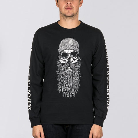 Heathen Destiny Long Sleeve Tee Black/White