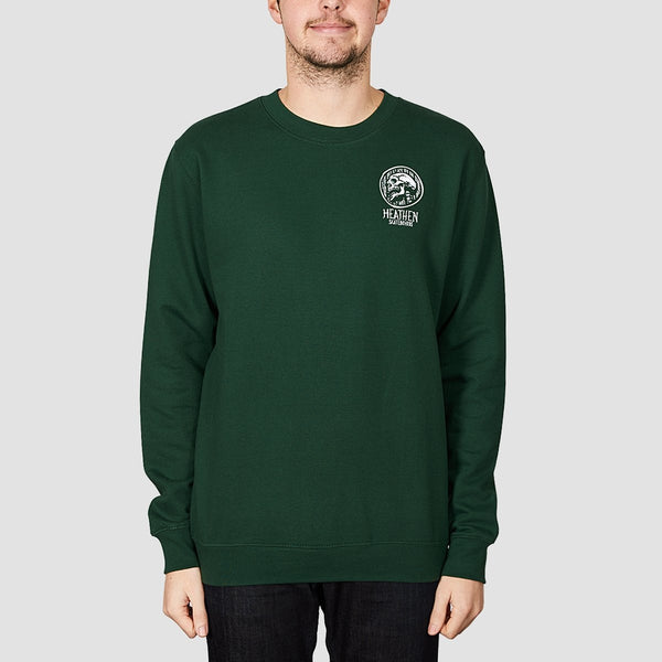 Heathen Doom Crew Sweat Forest - Clothing