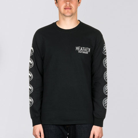 Heathen Doomsleeve Long Sleeve Tee Black/White