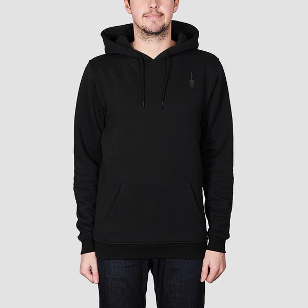 Heathen Load Pullover Hood Black - Clothing