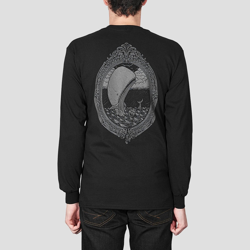 Heathen White Whale Long Sleeve Tee Black - Clothing