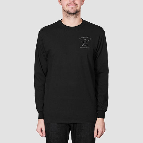 Heathen White Whale Long Sleeve Tee Black