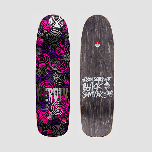 Heroin Black Summer Spiral Deck - 8.88""