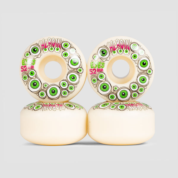 Heroin Glow In Dark Eyes Wheels 52mm