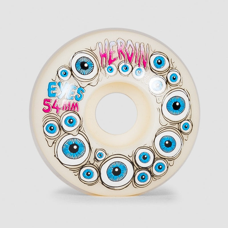 Heroin Glow In Dark Eyes Wheels 54mm - Skateboard