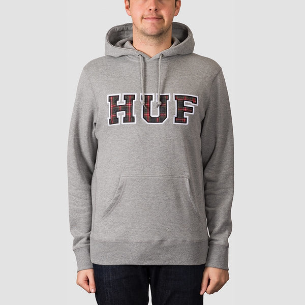 HUF Academia Pullover Hood Grey Heather - Clothing