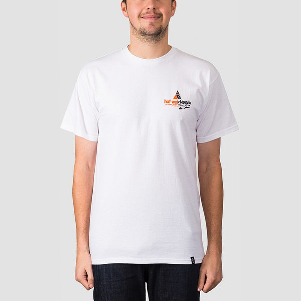 HUF Giga Melt TT Tee White - Clothing