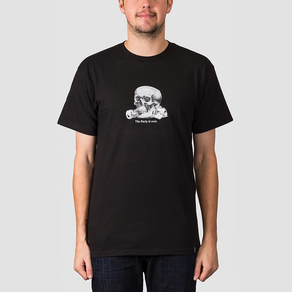 HUF Partys Over Tee Black - Clothing