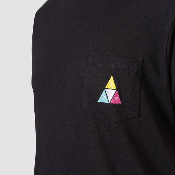HUF Prism TT Pocket Tee Black - Clothing