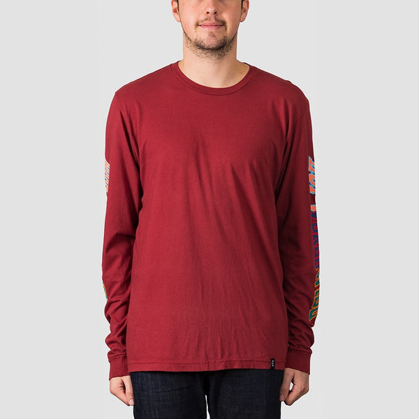 HUF Suspension Classic H Long Sleeve Tee Red Pear - Clothing