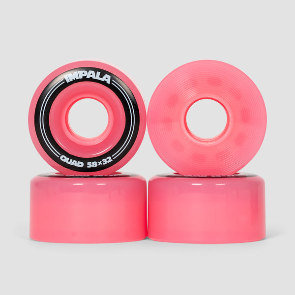 Impala Quad Wheels x4 Pink